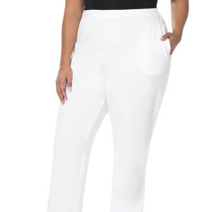 Catherines Suprema White Pull On pants 4x or 5x